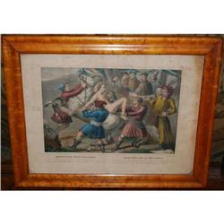 """Antique Lithograph by Turgis """"Mazeppa's Ride"""", #2378514"""