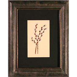 Pussy Willows flowers painting signed Neill #2378565