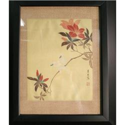 Chinese painting cloth oriental asian floral #2378566