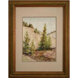 Cedars in Spring landscape Painting by Olive M.#2378573