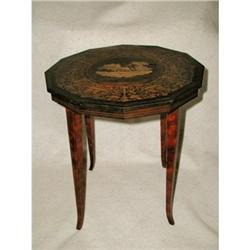 Burl Table Intricate Inlay Italy 19th Century #2378588