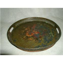 Metal Tole Tray Hand Painted England Early 19th#2378599
