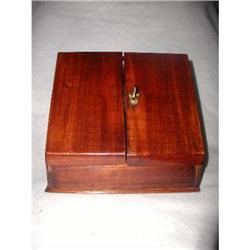 Mahogany Stationary Box Slant 19th C England #2378615