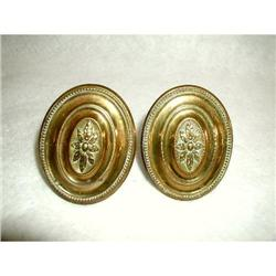Solid Brass Finials Hooks Tiebacks Vintage #2378624