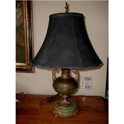 Onyx Urn Lamp Double Light C.1920 #2378627
