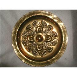Scottish Alms Plate Solid Brass Hand Forged #2378631