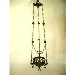 French Bronze Sanctuary Light Fixture Plant #2378636