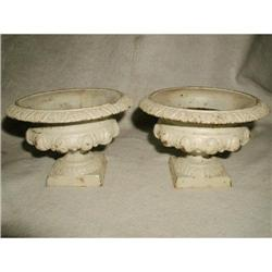 French Urns Cast Iron 19th Century #2378646