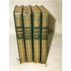 Dickens Novels Leather Bound Illustrated 19th C#2378647