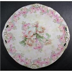 Royal Bayreuth 3 Color Roses 7 1/2 in Plate #2378900