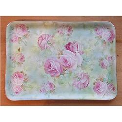 Royal Bayreuth Tapestry Pink ROSES Dresser Tray#2378906