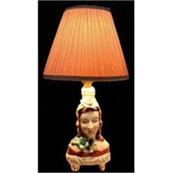 Occupied Japan Female Figural Boudoir Lamp Head#2378934
