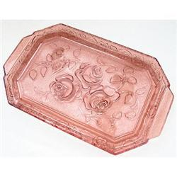 Walther Glass Pink ROSEN Dresser Tray #2378938