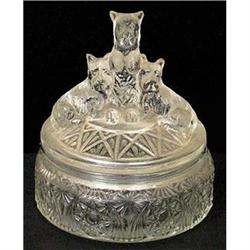 MY PET Clear Depression Glass Powder Jar #2378947