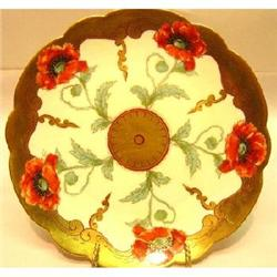 Pickard Signed Floral Gold Plate #2379079