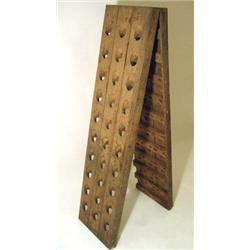 ANTIQUE FRENCH WOOD CHAMPAGNE RACK #2379081