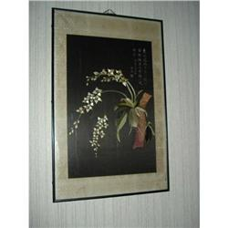 Chinese tapestry in frame #2379118