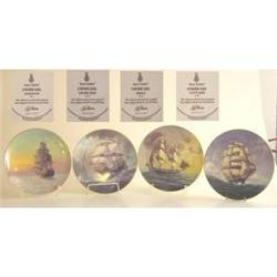 Royal Doulton Set of Four Caninet Plates #2379131
