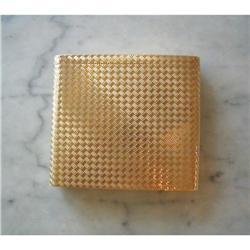 PRINCE of WALES 14K Woven Gold CIGARETTE CASE/#2379147
