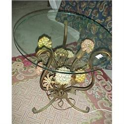 Italian metal floral table with lighting #2379310
