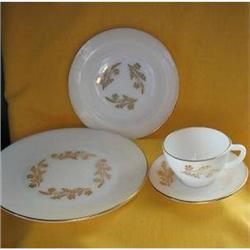 Federal Glass Meadow Gold Dish Set-Service 8   #2379333