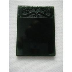 chinese carved black jade pendant #2379344