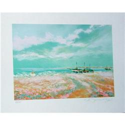 Claude Manoukian, Les Barques Signed Lithograph#2379416