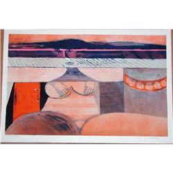 Hans Graeder, Sorrow, Signed  Lithograph #2379419