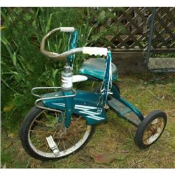 "RARE Vintage Western Flyer Blue Tricycle 26.5"" #2379437"