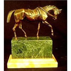 Antique Bronze Horse Mounted on Marble #2379556