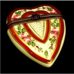 French Limoges Signed Heart Box #2379563