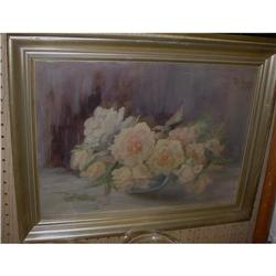 Oil Painting of Bowl of Roses by Raida  #2379587