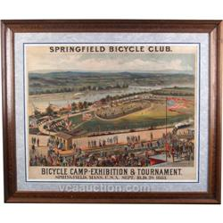 Springfield Bicycle Club 1883 Framed Poster 31 x36