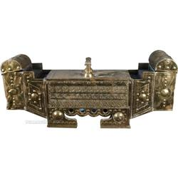 Embossed Brass Shoe Shine Portable Stand