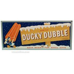 1956 Donald Duck Ducky Dubble Popsicle Sign, Paper