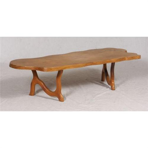 mid century hawaiian monkey pod coffee table. Black Bedroom Furniture Sets. Home Design Ideas