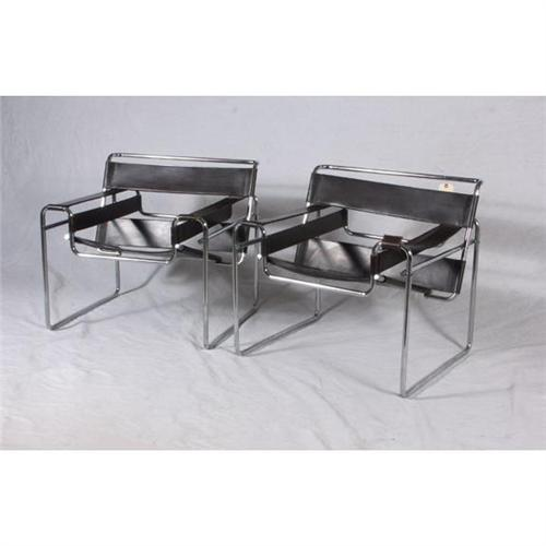 pair gavina marcel breuer wassily model b3 chairs. Black Bedroom Furniture Sets. Home Design Ideas