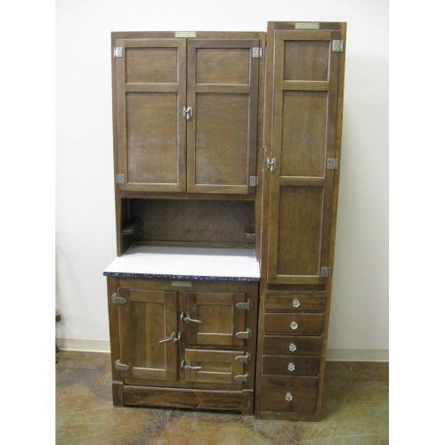 Rare McDougall kitchen cabinet w/icebox