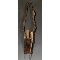 Buffalo Skinner's belt with knife