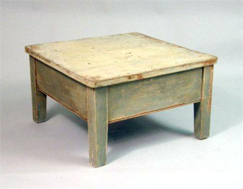 A Paint Distressed Coffee Table