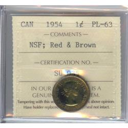 Cent 1954, ICCS PL-63 Red & Brown, NSF