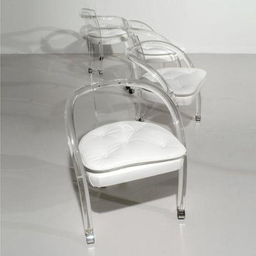 lucite chairs set of 4 usa c