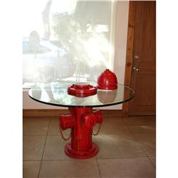 Unconfirmed artist fire hydrant table for Concreteworks fire table