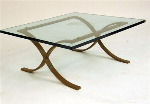Image 2 A Mies Van Der Rohe Style Steel And Glass Coffee Table
