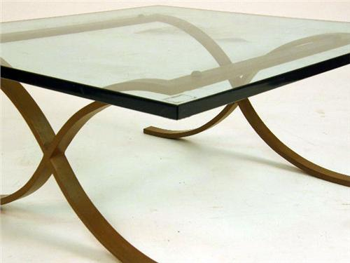 Image 3 A Mies Van Der Rohe Style Steel And Glass Coffee Table