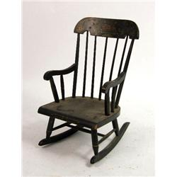 AN AMERICAN HITCHCOCK STYLE STENCILED ROCKING CHAIR