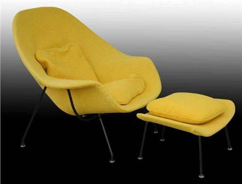 Vintage knoll saarinen womb chair ottoman - Vintage womb chair for sale ...