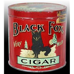 Black Fox Round Cigar Tin.