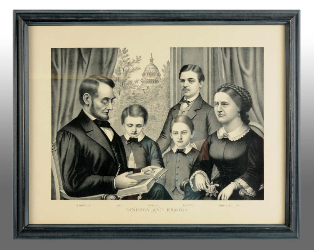 Paper Litho Of Abraham Lincoln Amp Family