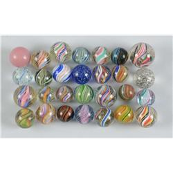 Assortment of Handmade Marbles.